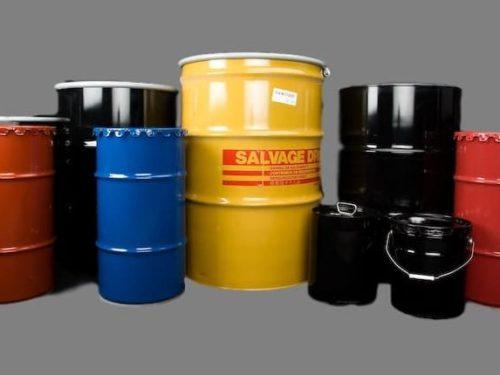 Steel, Plastic, and Fiber Drums